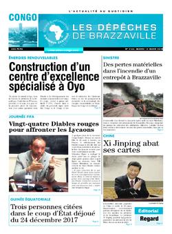 Les Dépêches de Brazzaville : Édition brazzaville du 13 mars 2018