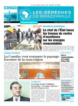 Les Dépêches de Brazzaville : Édition brazzaville du 14 mars 2018