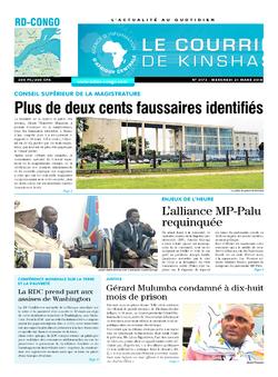 Les Dépêches de Brazzaville : Édition brazzaville du 21 mars 2018