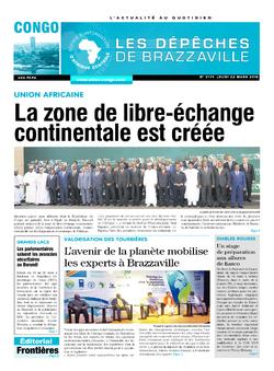 Les Dépêches de Brazzaville : Édition brazzaville du 22 mars 2018