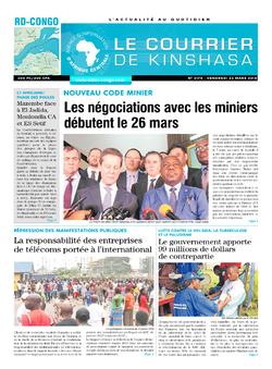 Les Dépêches de Brazzaville : Édition le courrier de kinshasa du 23 mars 2018