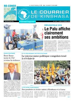 Les Dépêches de Brazzaville : Édition le courrier de kinshasa du 26 mars 2018