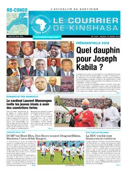 Les Dépêches de Brazzaville : Édition le courrier de kinshasa du 27 mars 2018