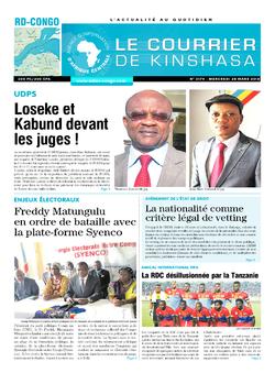 Les Dépêches de Brazzaville : Édition le courrier de kinshasa du 28 mars 2018
