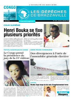 Les Dépêches de Brazzaville : Édition brazzaville du 29 mars 2018