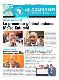 Les Dépêches de Brazzaville : Édition le courrier de kinshasa du 29 mars 2018