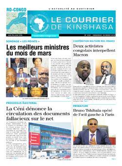 Les Dépêches de Brazzaville : Édition le courrier de kinshasa du 30 mars 2018