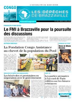 Les Dépêches de Brazzaville : Édition brazzaville du 03 avril 2018