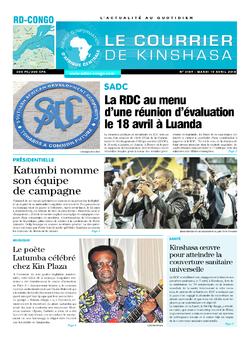 Les Dépêches de Brazzaville : Édition brazzaville du 10 avril 2018