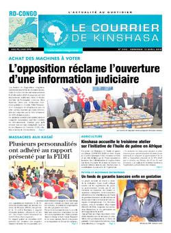 Les Dépêches de Brazzaville : Édition brazzaville du 13 avril 2018