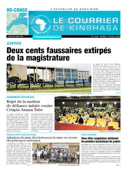 Les Dépêches de Brazzaville : Édition le courrier de kinshasa du 17 avril 2018