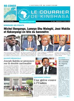 Les Dépêches de Brazzaville : Édition le courrier de kinshasa du 18 avril 2018