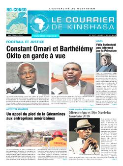 Les Dépêches de Brazzaville : Édition le courrier de kinshasa du 19 avril 2018