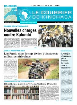 Les Dépêches de Brazzaville : Édition le courrier de kinshasa du 23 avril 2018