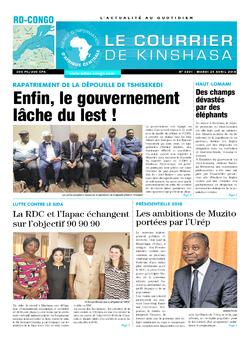 Les Dépêches de Brazzaville : Édition le courrier de kinshasa du 24 avril 2018
