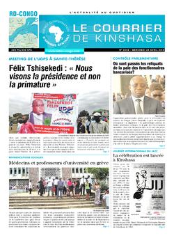 Les Dépêches de Brazzaville : Édition le courrier de kinshasa du 25 avril 2018
