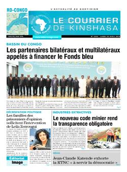 Les Dépêches de Brazzaville : Édition le courrier de kinshasa du 30 avril 2018