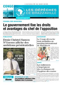 Les Dépêches de Brazzaville : Édition brazzaville du 03 mai 2018