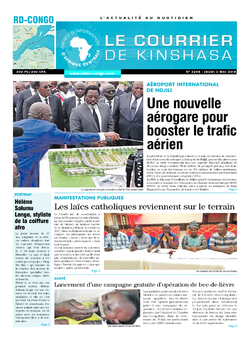 Les Dépêches de Brazzaville : Édition le courrier de kinshasa du 03 mai 2018
