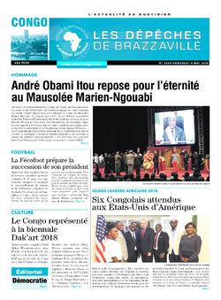 Les Dépêches de Brazzaville : Édition brazzaville du 04 mai 2018