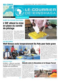 Les Dépêches de Brazzaville : Édition le courrier de kinshasa du 07 mai 2018