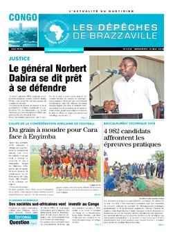 Les Dépêches de Brazzaville : Édition brazzaville du 16 mai 2018