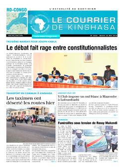 Les Dépêches de Brazzaville : Édition le courrier de kinshasa du 22 mai 2018