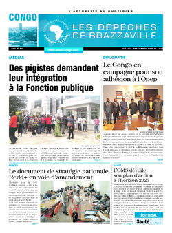 Les Dépêches de Brazzaville : Édition brazzaville du 23 mai 2018