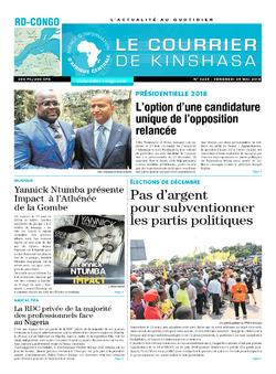 Les Dépêches de Brazzaville : Édition le courrier de kinshasa du 25 mai 2018