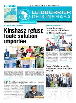 Les Dépêches de Brazzaville : Édition le courrier de kinshasa du 29 mai 2018
