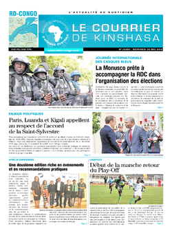 Les Dépêches de Brazzaville : Édition le courrier de kinshasa du 30 mai 2018