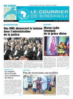 Les Dépêches de Brazzaville : Édition le courrier de kinshasa du 31 mai 2018