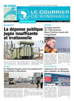 Les Dépêches de Brazzaville : Édition le courrier de kinshasa du 01 juin 2018