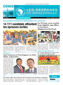 Les Dépêches de Brazzaville : Édition brazzaville du 05 juin 2018