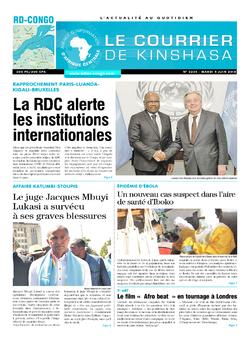 Les Dépêches de Brazzaville : Édition le courrier de kinshasa du 05 juin 2018