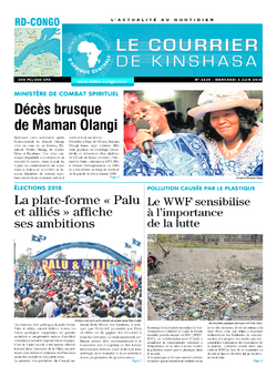 Les Dépêches de Brazzaville : Édition le courrier de kinshasa du 06 juin 2018