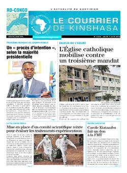Les Dépêches de Brazzaville : Édition le courrier de kinshasa du 07 juin 2018