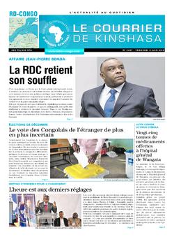 Les Dépêches de Brazzaville : Édition le courrier de kinshasa du 08 juin 2018