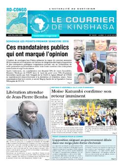 Les Dépêches de Brazzaville : Édition le courrier de kinshasa du 11 juin 2018