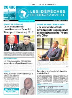 Les Dépêches de Brazzaville : Édition brazzaville du 12 juin 2018