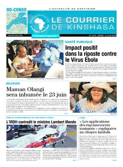 Les Dépêches de Brazzaville : Édition le courrier de kinshasa du 12 juin 2018
