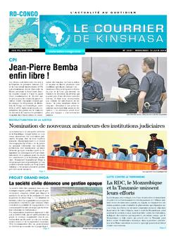 Les Dépêches de Brazzaville : Édition le courrier de kinshasa du 13 juin 2018