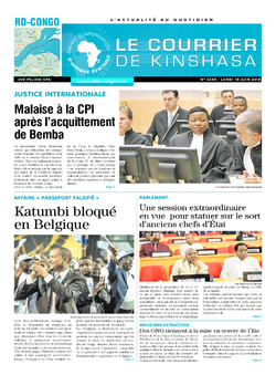Les Dépêches de Brazzaville : Édition le courrier de kinshasa du 18 juin 2018