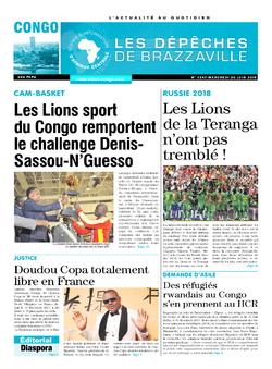 Les Dépêches de Brazzaville : Édition brazzaville du 20 juin 2018