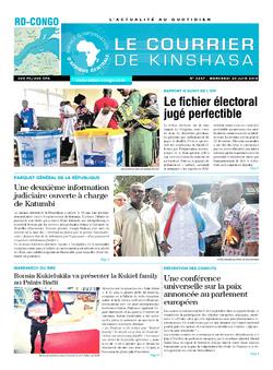 Les Dépêches de Brazzaville : Édition le courrier de kinshasa du 20 juin 2018