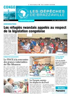 Les Dépêches de Brazzaville : Édition brazzaville du 21 juin 2018