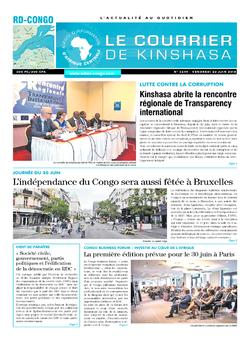 Les Dépêches de Brazzaville : Édition le courrier de kinshasa du 22 juin 2018