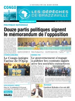 Les Dépêches de Brazzaville : Édition brazzaville du 25 juin 2018
