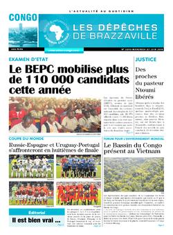 Les Dépêches de Brazzaville : Édition brazzaville du 27 juin 2018