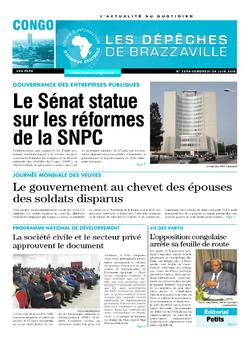 Les Dépêches de Brazzaville : Édition brazzaville du 29 juin 2018